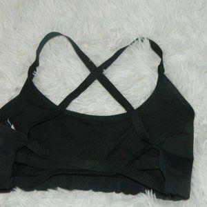 Onzie Sports Bra Black Strappy Size M/L